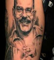 Happy Man Portrait Tattoo (2)
