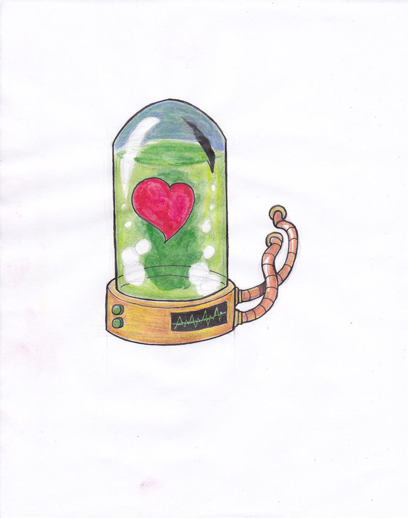 Heart In A Bottle Tattoo Design
