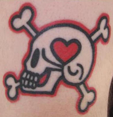 Heart Skull And Crossed Bone Tattoo