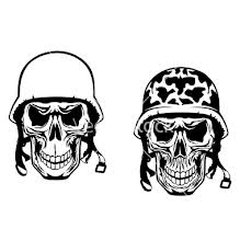 Helmet Skull Tattoo Designs