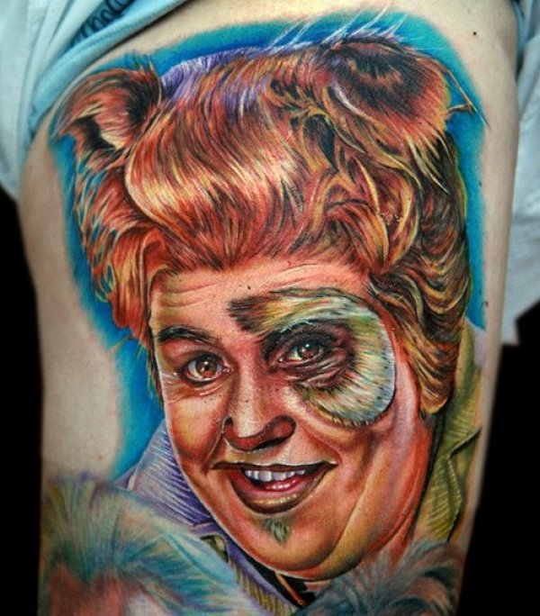 Hilarious Portrait Tattoo