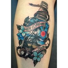 Holiday At Sea - Bottle Tattoo