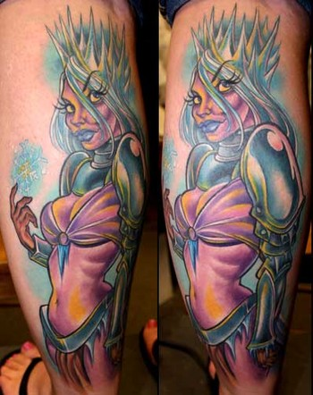 Hot Snow Queen Tattoo On Arm