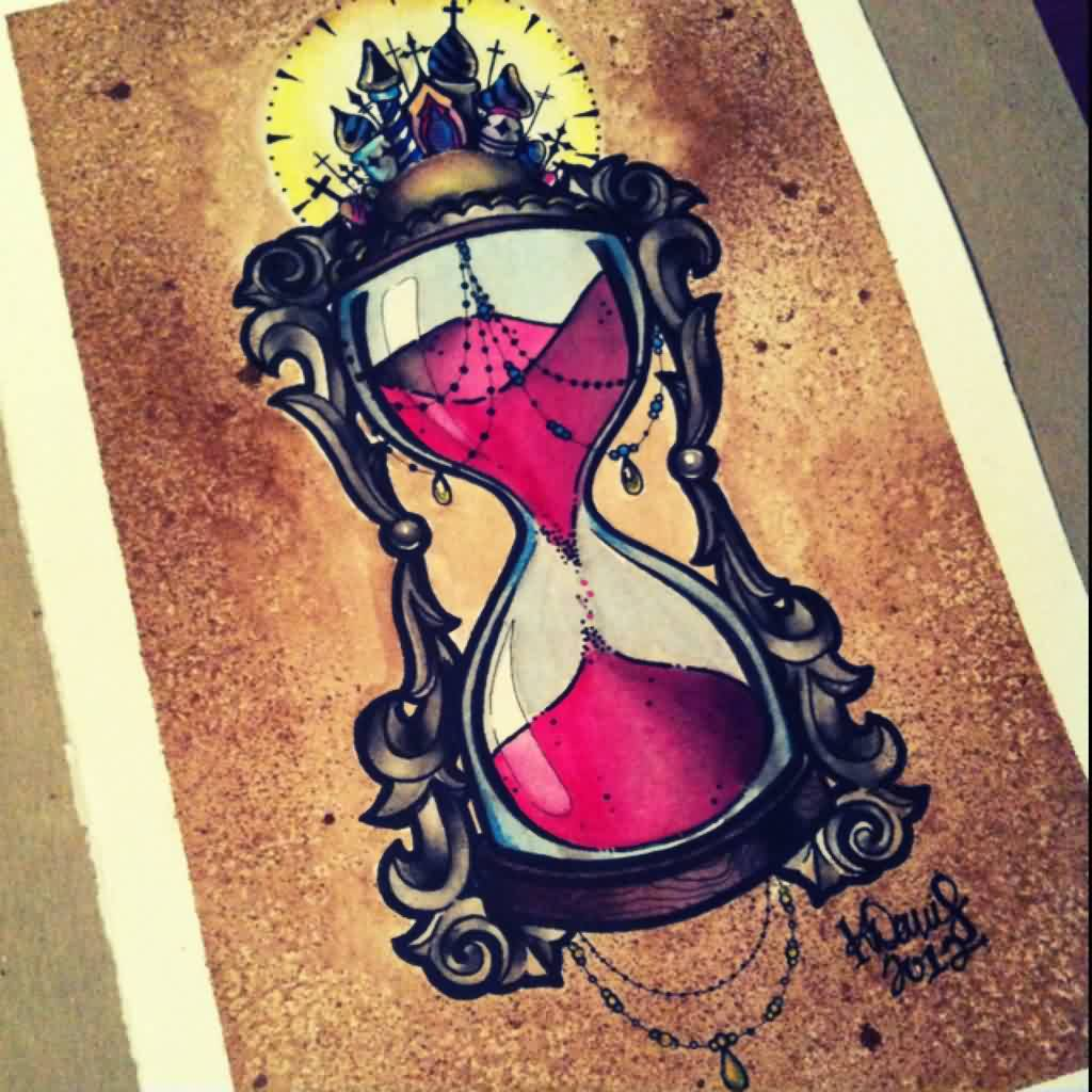 Hour Glass Tattoo Flash