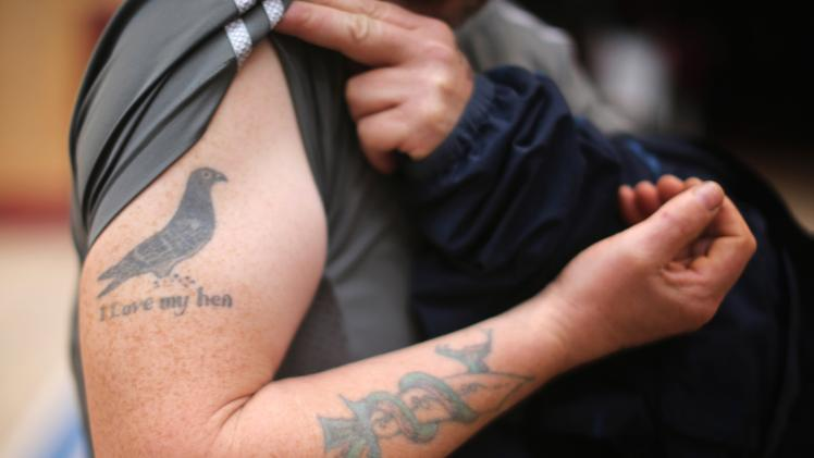 I Love My Hen - Pigeon Tattoo