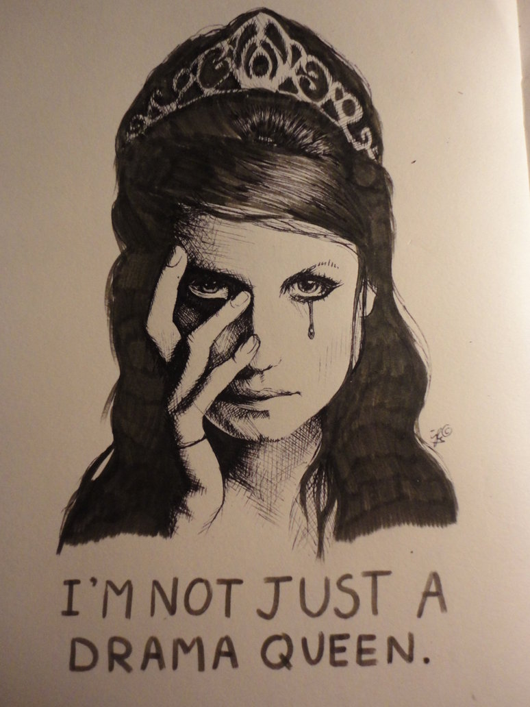 I'm Not Just A Drama Queen Tattoo Design