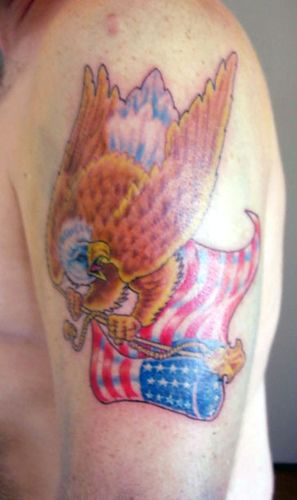 Impressive American Tattoos On Arm