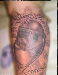 In Loving Memory - Helmet Tattoo