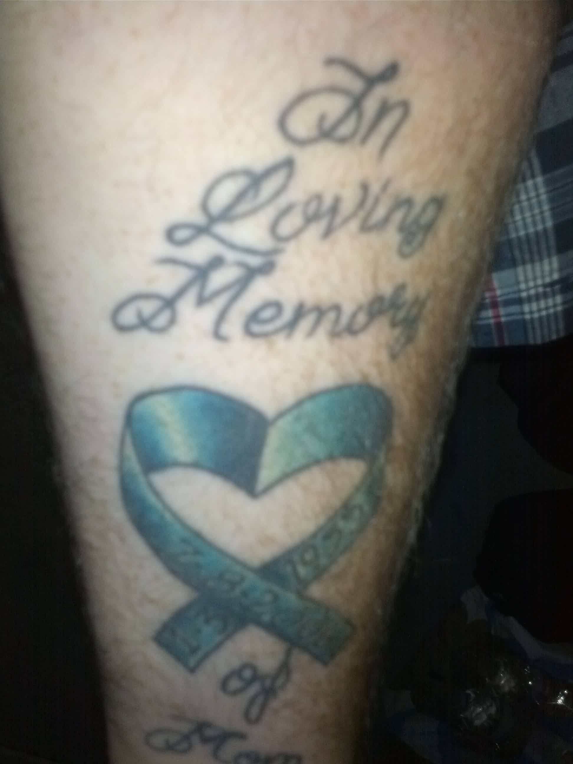 In Loving Memory - Ribbon Tattoo