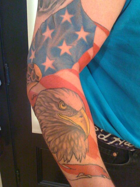 Incredible American Tattoos On Sleeve