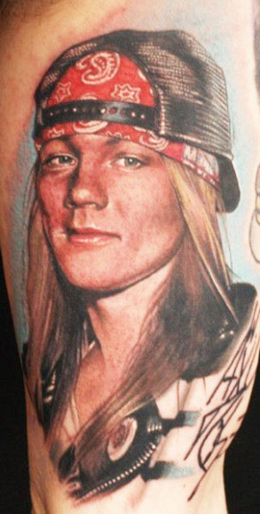 Incredible Electric Linda Portrait Tattoo
