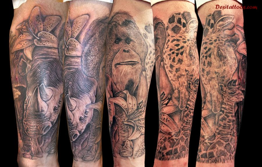Incredible Wild Animal Tattoos
