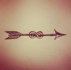 Infinity With Arrow Tattoo Sketch