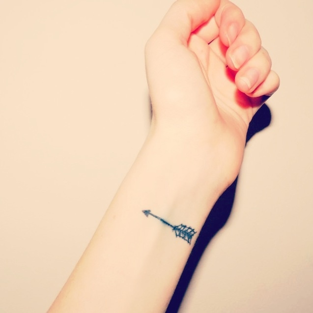 Inner Wrist Arrow Tattoo Trend