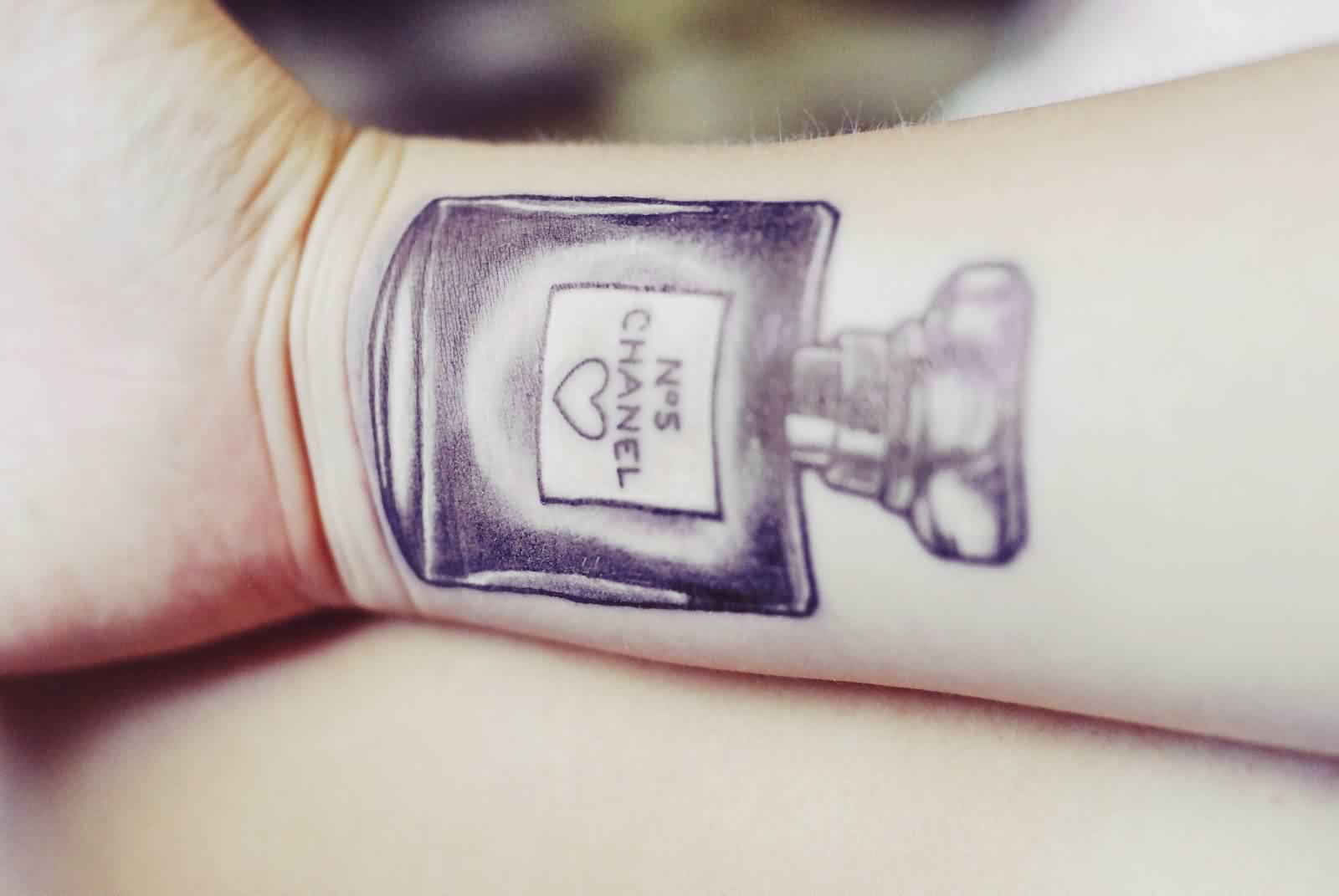 Inner Wrist Bottle Tattoo