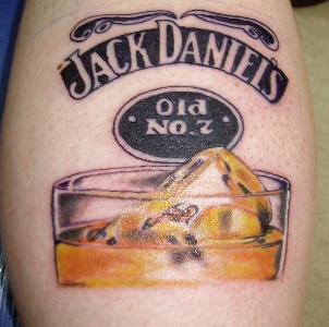 Jack Daniels Glass Tattoo