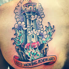 Keep Moving Forward - Lighthouse Tattoo