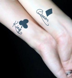 King And Queen Wrist Tattoos