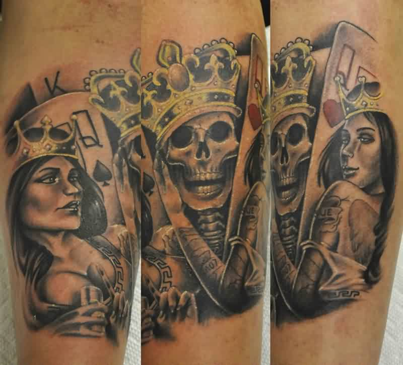 King Queen Portrait Tattoos