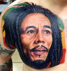 Large Impressive Face Portrait Tattoo On Chest