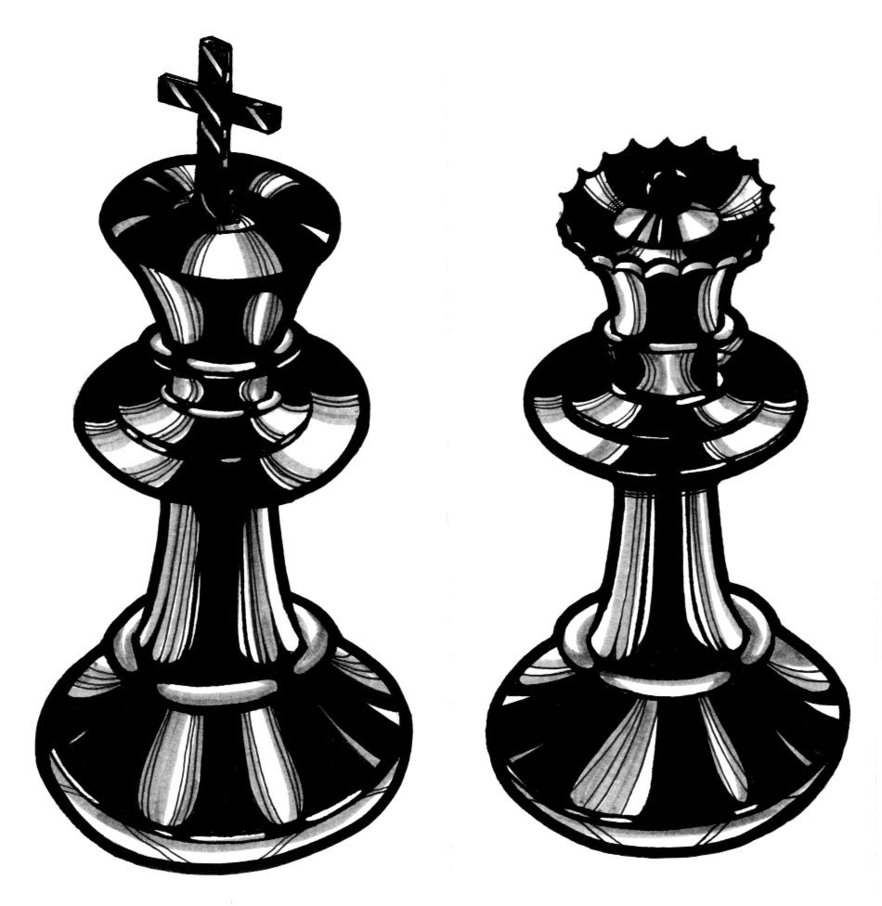 Latest Chess King And Queen Tattoo Designs