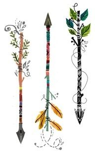 Latest Colorful Arrow Tattoo Designs