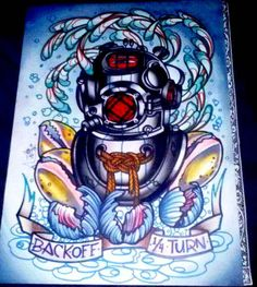 Latest Diver's Helmet Tattoo Flash