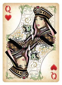 Latest Queen Of Hearts Tattoo Flash