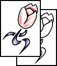 Light Pink Tulip Tattoo Design