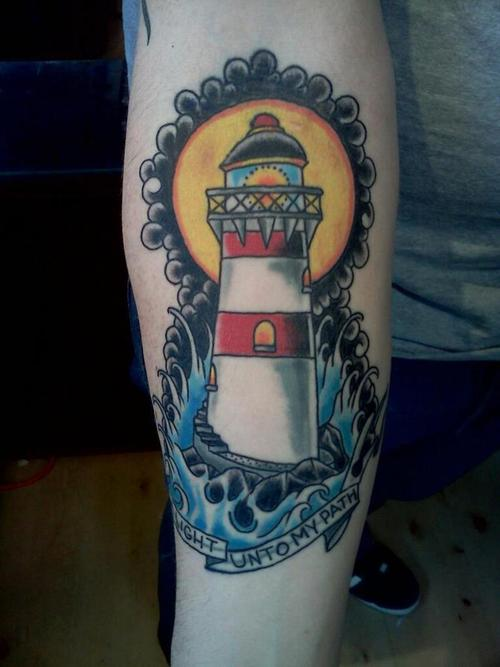 Light Unto My Path - Lighthouse Tattoo