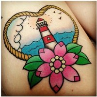 Little Lighthouse Love Tattoo