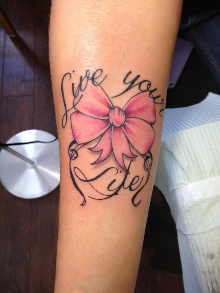 Live Your Life - Ribbon Tattoo