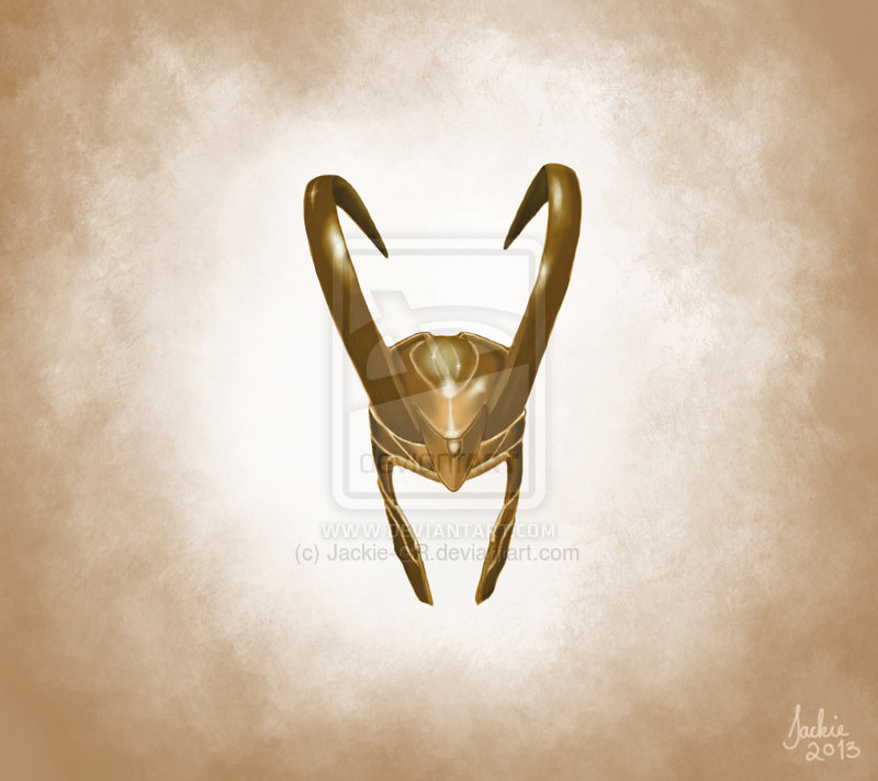 Loki's Helmet Tattoo Flash