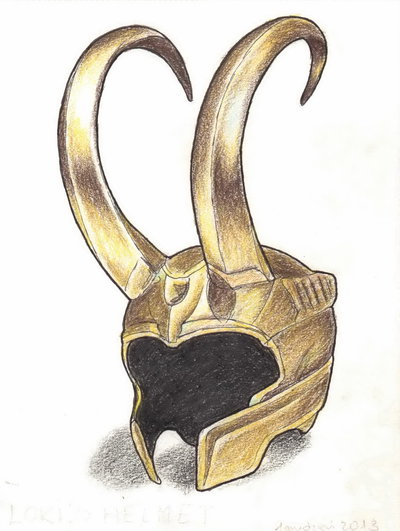 Loki's Helmet Tattoo Sample