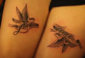 Love Peace - Pigeon Tattoos