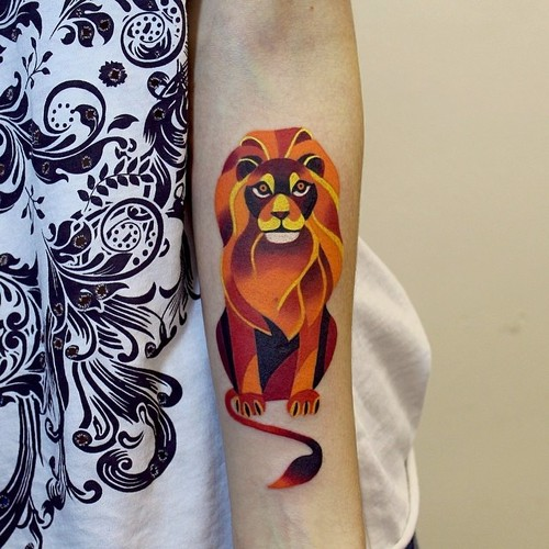 Lovely Animal Tattoo On Forearm