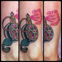 Lovely Perfume Bottle Tattoos