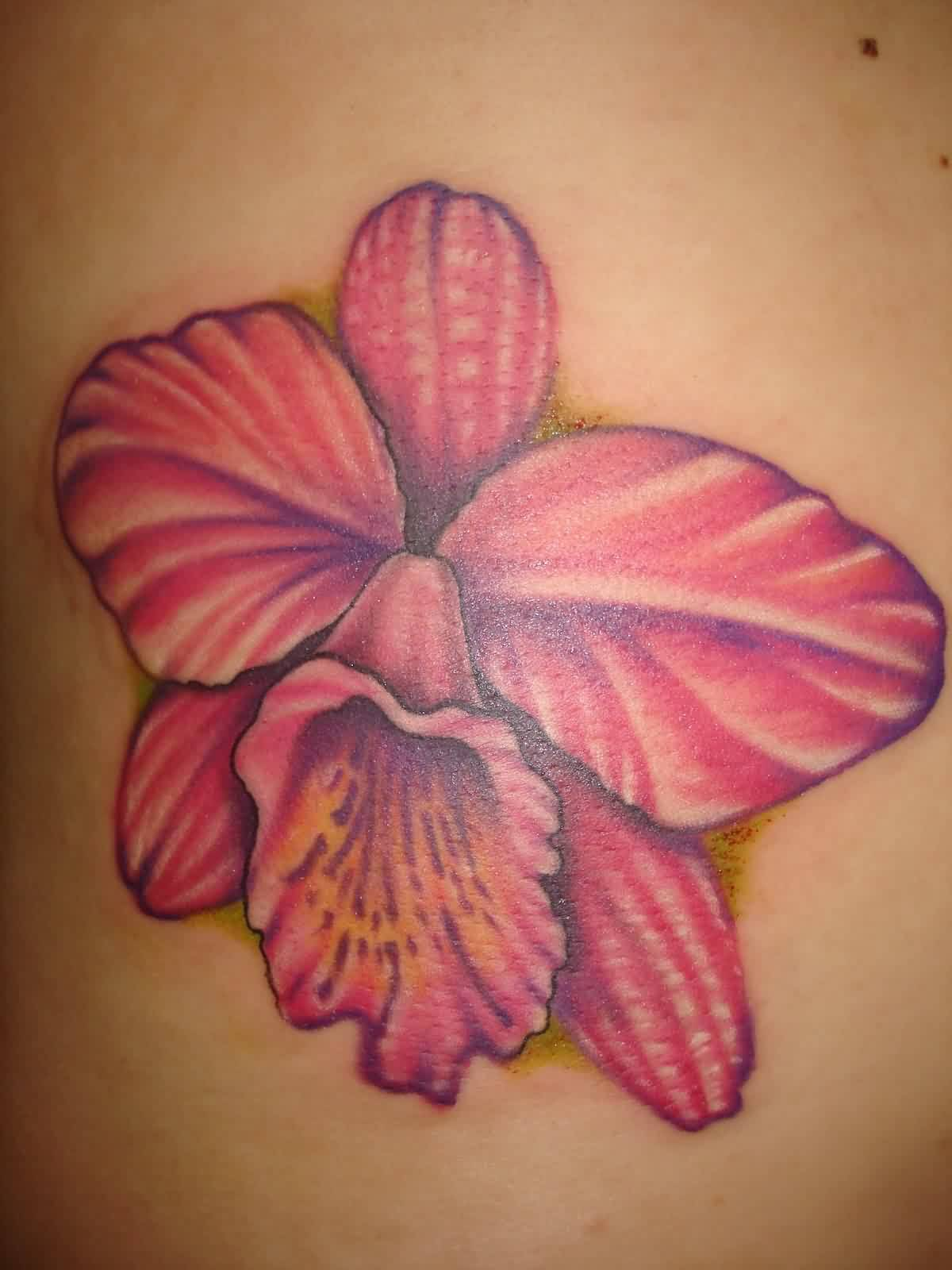 Lovely Pink Tulip Tattoo