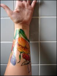 Lovely Tulip Tattoos On Wrist
