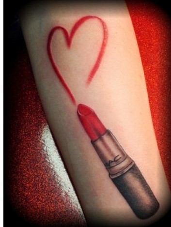 MAC Lipstick Heart Tattoo