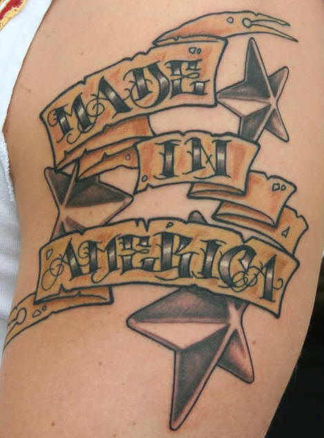 Made In America Tattoo On Biceps