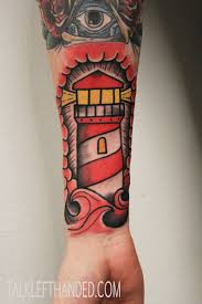 Magnificent Lighthouse Tattoo On Lower Arm