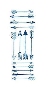Many Blue Arrow Tattoo Designs