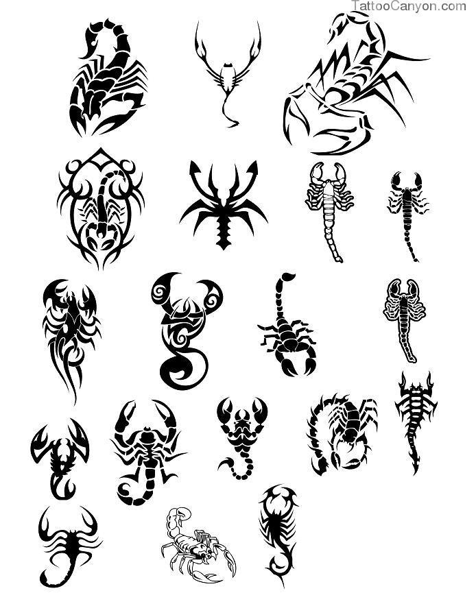 Many Tribal Scorpion Tattoo Designs
