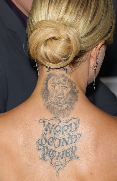 Mena's Lion Tattoo