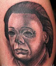 Michael Myers Portrait Tattoo