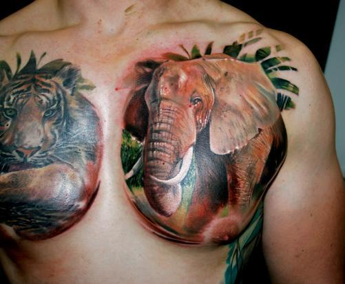 Mind Blowing Animal Tattoos On Chest