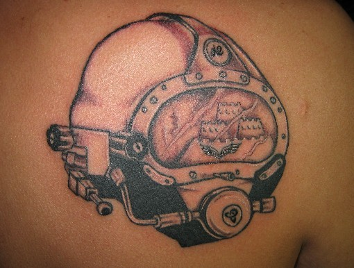 Mind Blowing Helmet Tattoo