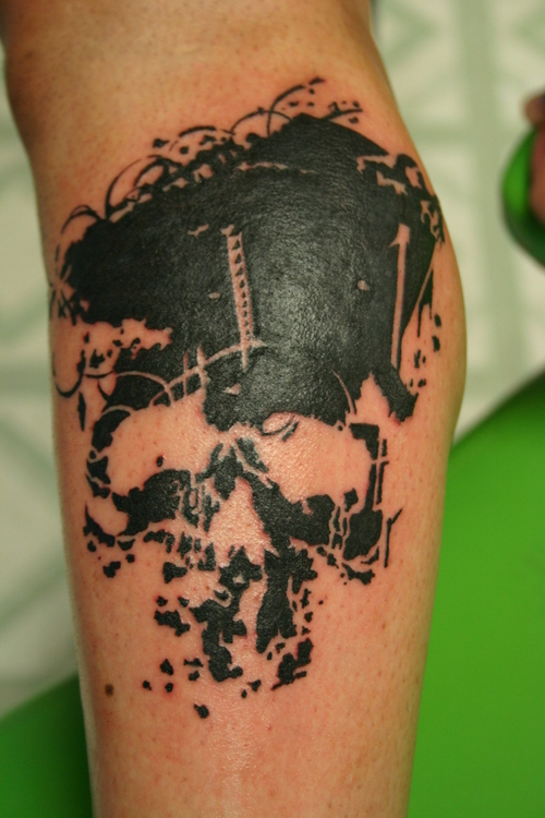 Motorcycle Helmet Tattoo