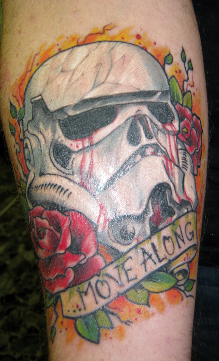 Move Along - Helmet Tattoo
